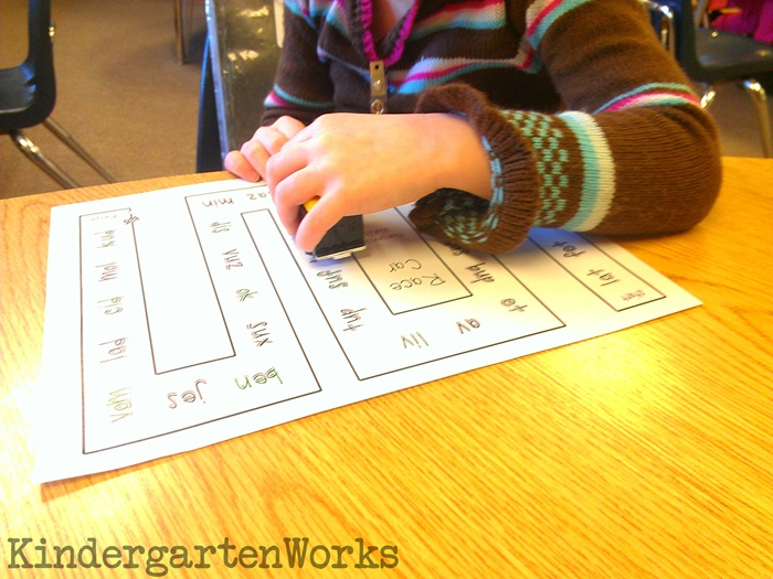 Nonsense Words Reading Activity for Kindergarten