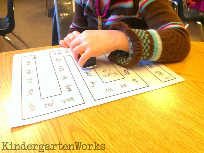 Nonsense Words Reading Activity for Kindergarten