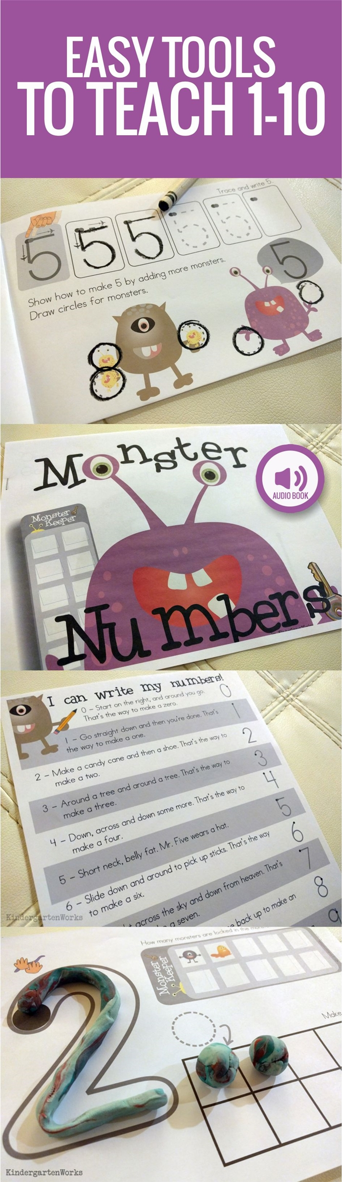How to teach numbers in kindergarten - I love this - it totally works