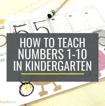 How to teach numbers in kindergarten
