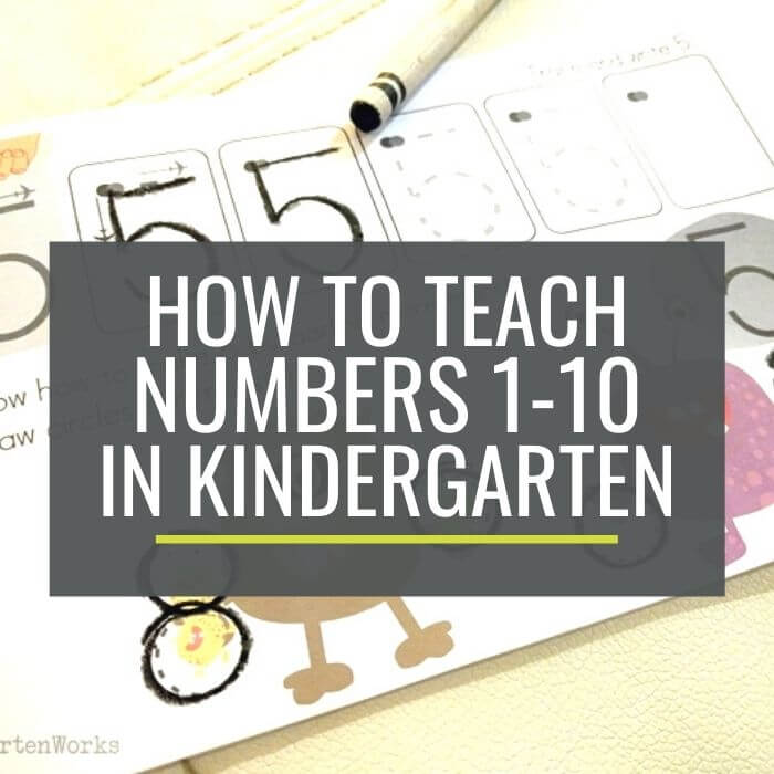 How to teach numbers in kindergarten