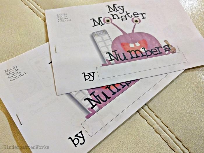 Teaching numbers 1-10 in kindergarten - mini handwriting books