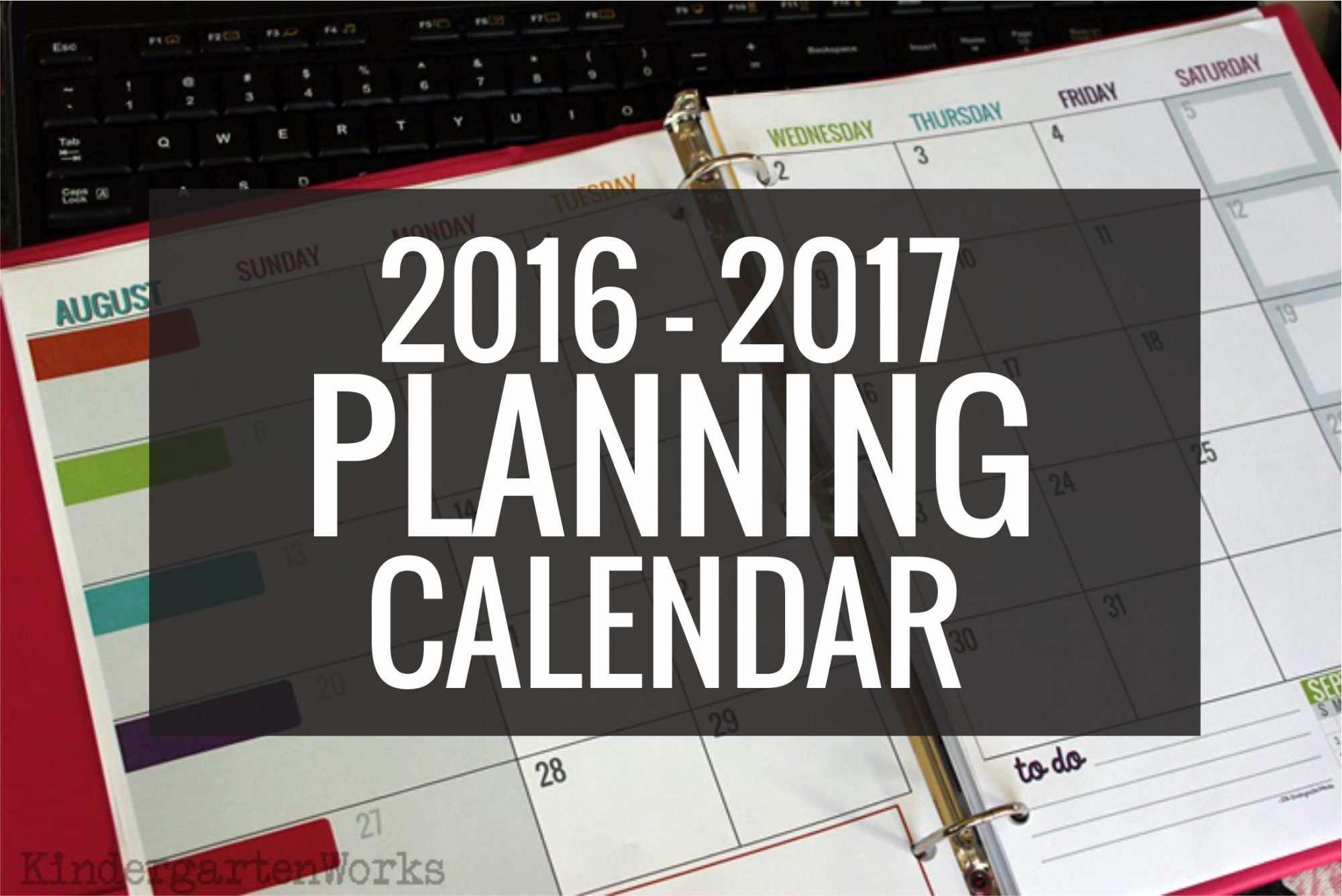 The best teacher planning Printable Calendar 2016-2017