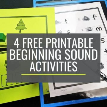 4 Free Beginning Sounds Guided Reading Activities