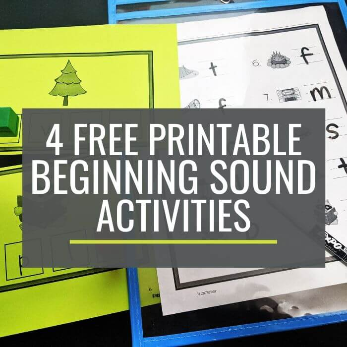 Beginning Sounds – 5 Guided Reading Activities {Printable}