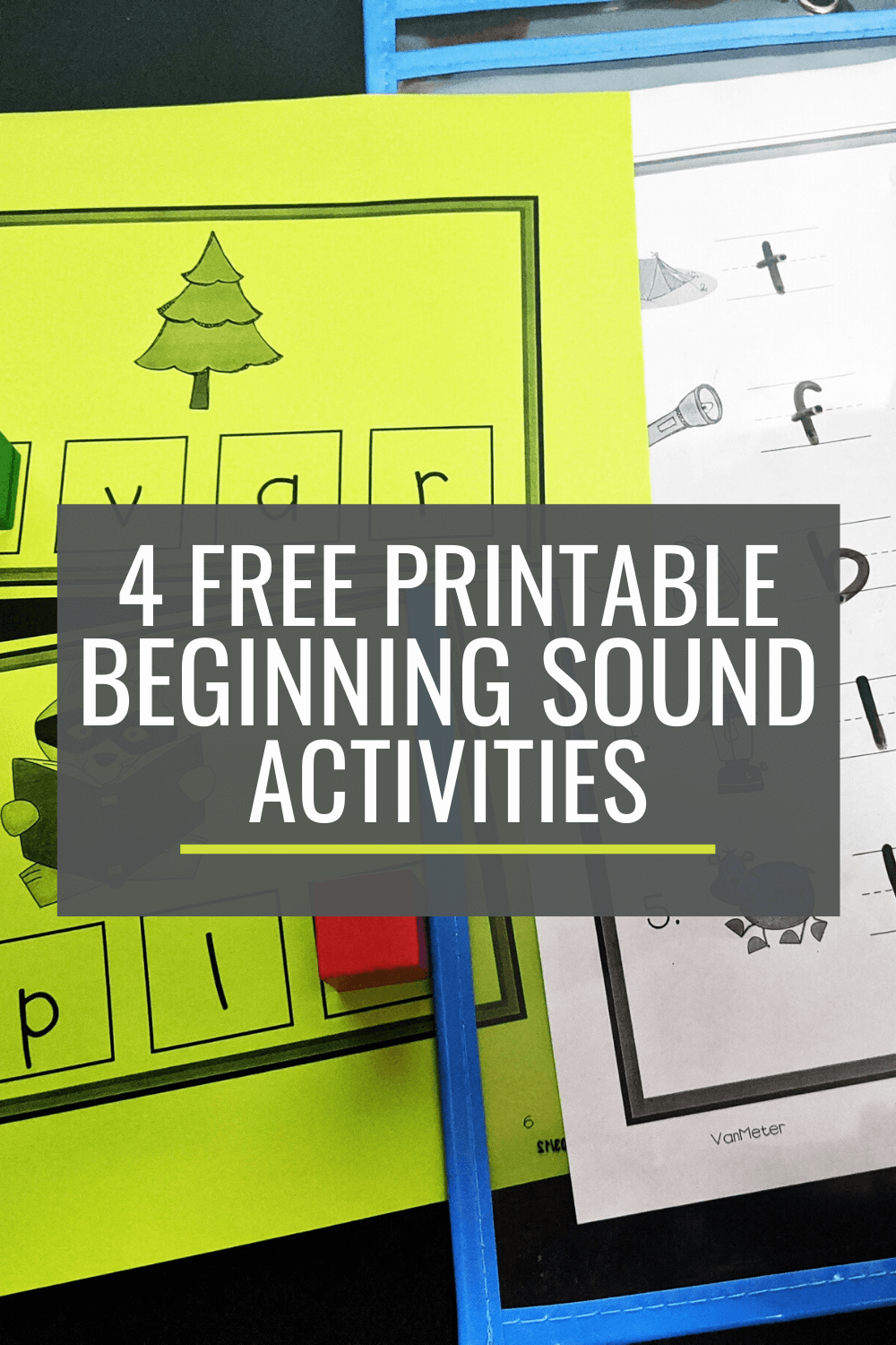 4 Free Beginning Sounds Activities for Small Groups