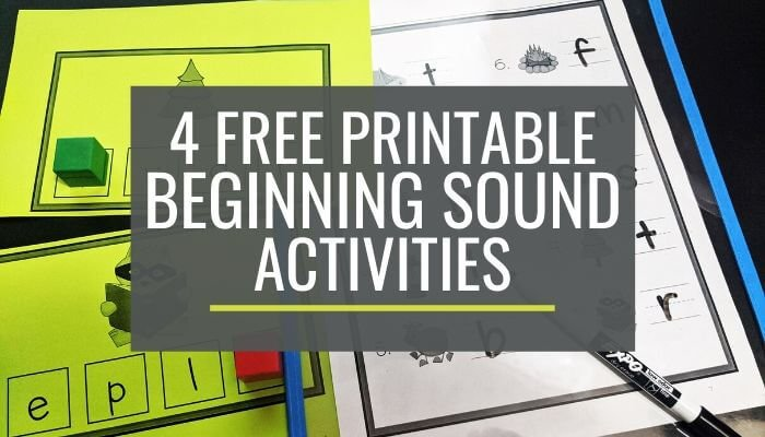 4 Free Printable Beginning Sound Guided Reading Activities