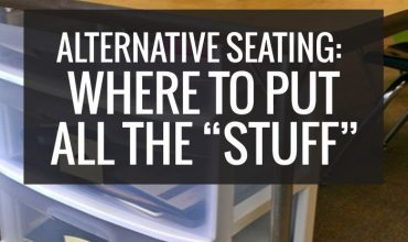 "Alternative Seating: Where To Put All the ""Stuff"""