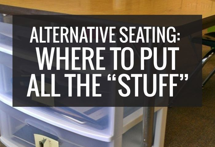 """Alternative Seating: Where To Put All the """"Stuff"""""""
