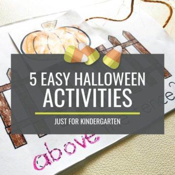 Easy Halloween Activities for Kindergarten