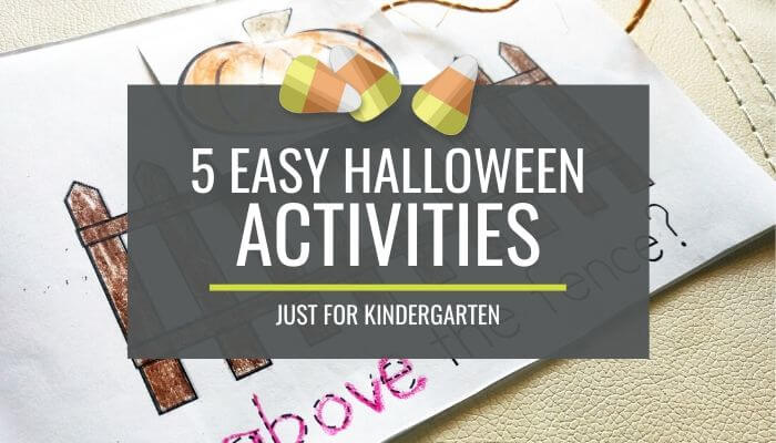7+ Easy Halloween Activities for Kindergarten
