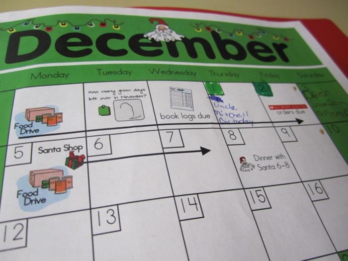 How to set up daily folders for kindergarten - parent calendar