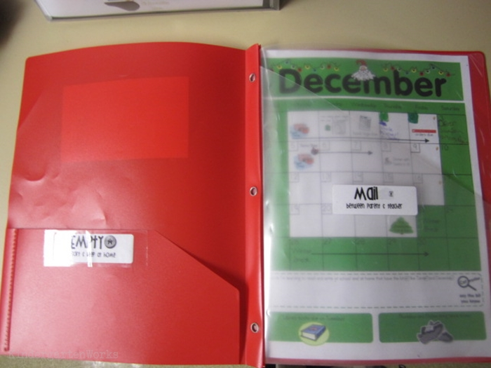 How to set up daily folders for kindergarten