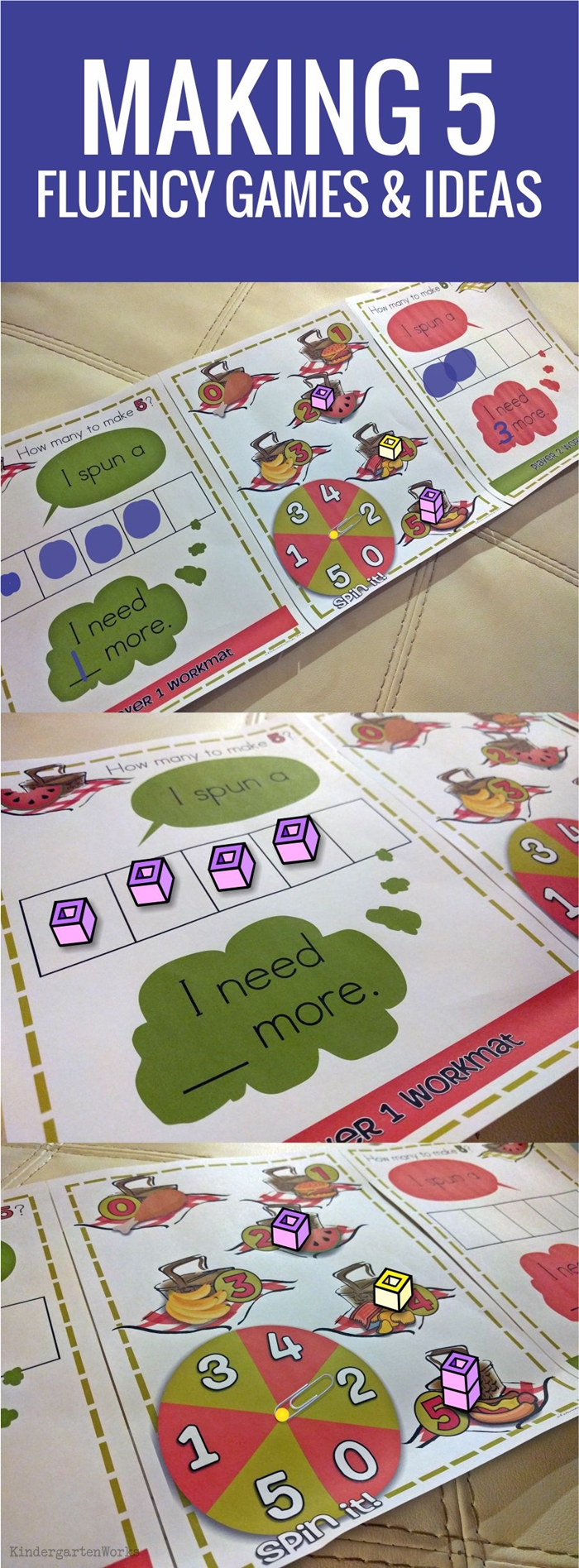 Making 5 fluency ideas and games for Kindergarten - love it!