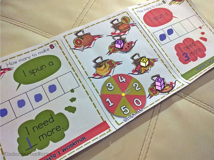 Making 5 fluency ideas and games for Kindergarten - these are awesome