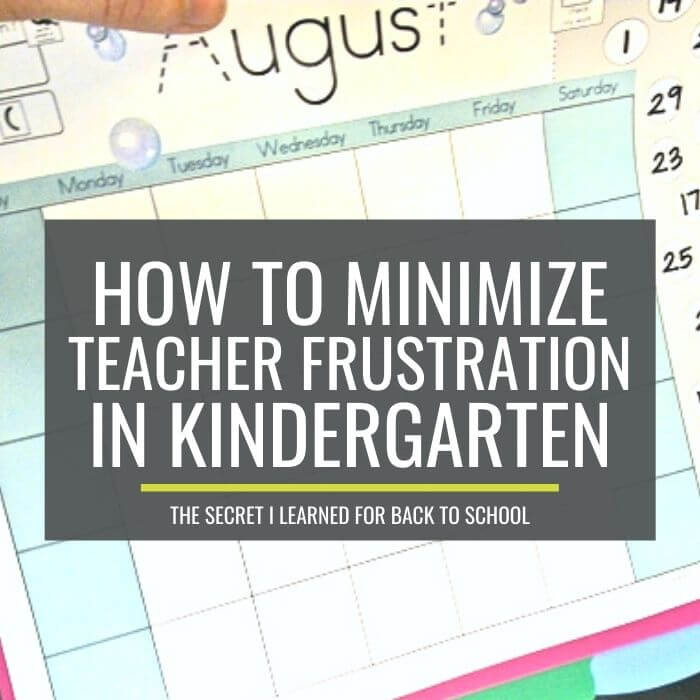 The Secret to Minimizing Back to School Frustration in Kindergarten