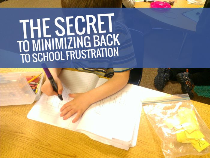 My Beginning of the Year Secret - How to Minimize Frustration