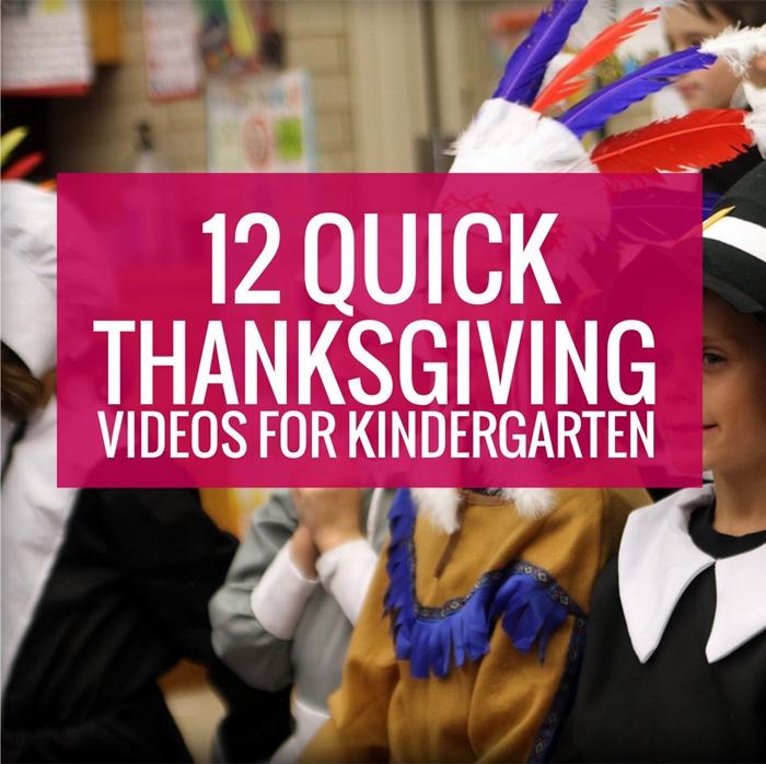 Thanksgiving Videos for Kindergarten