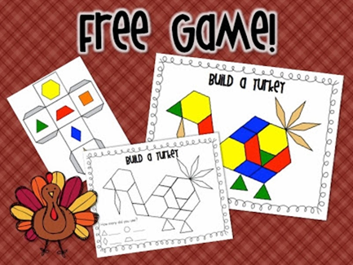9 Easy and Fun Thanksgiving Activities for Kindergarten - pattern block building game