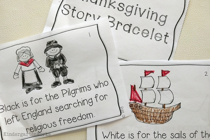 9 Easy and Fun Thanksgiving Activities for Kindergarten - retell bracelet companion story