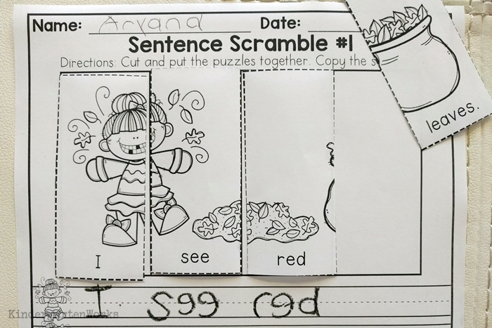 9 Easy and Fun Thanksgiving Activities for Kindergarten - sequence and write