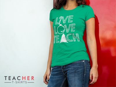 Cute teacher t-shirt for Christmas