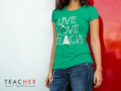 Cute teacher t-shirt for Christmas