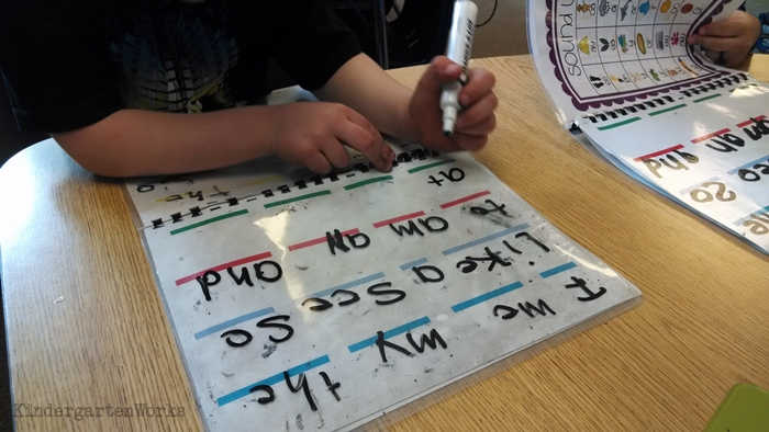Teach - How to Write Sight Words Fluently - use dry erase surface
