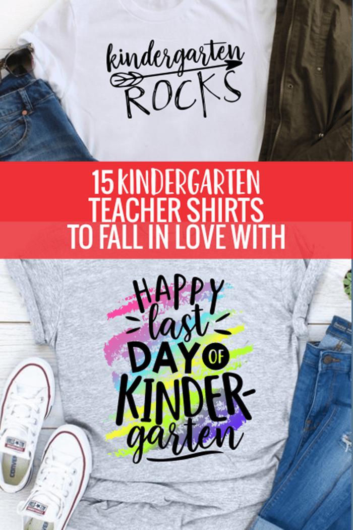 15 Cute Kindergarten Teacher T-Shirts