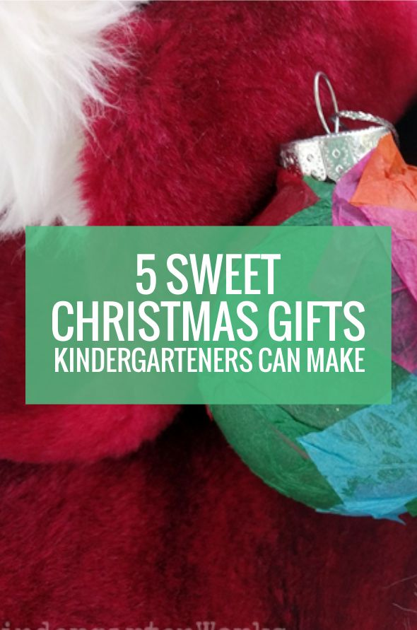 5 Christmas Gifts Kindergarteners Can Make for Parents - these are sweet