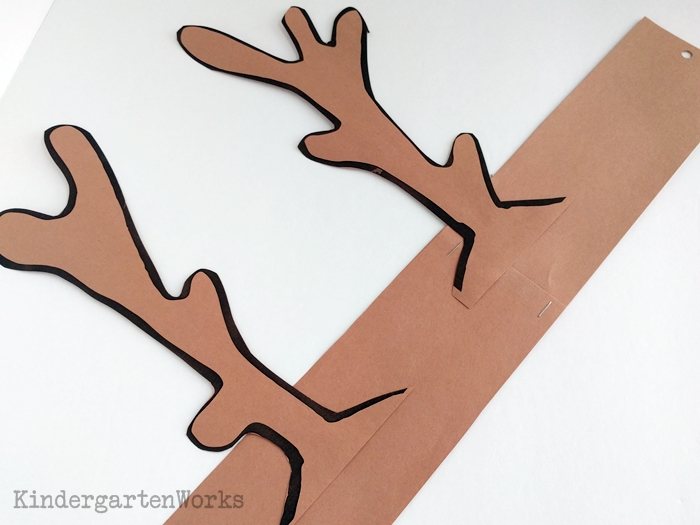 graphic relating to Pin the Nose on the Reindeer Printable called Adorable and Cost-free Printable Reindeer Antler Headbands