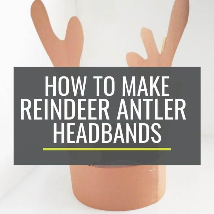 Cute and Free Printable Reindeer Antler Headbands for kindergarten