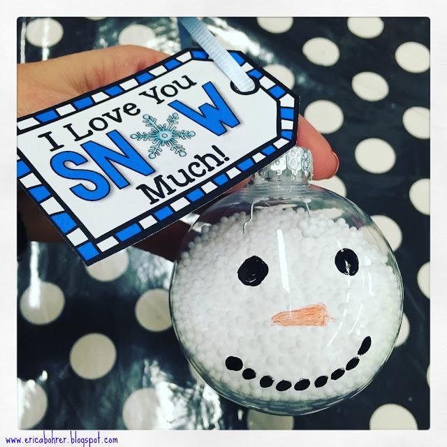 Cute snowman Christmas bulb