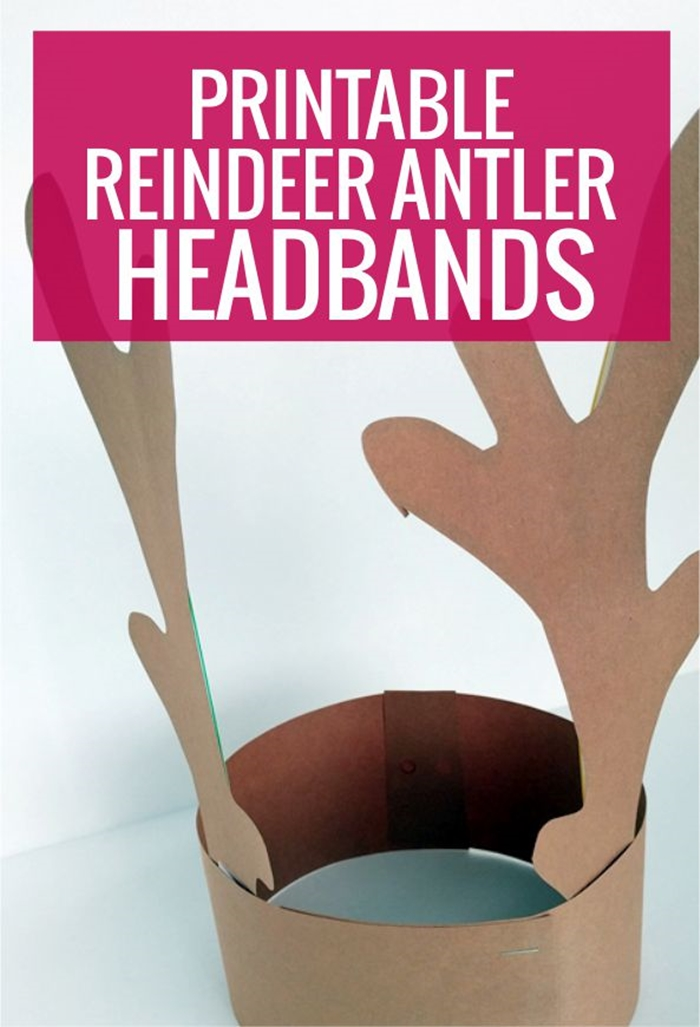 graphic about Printable Reindeer Antlers titled Lovable and No cost Printable Reindeer Antler Headbands