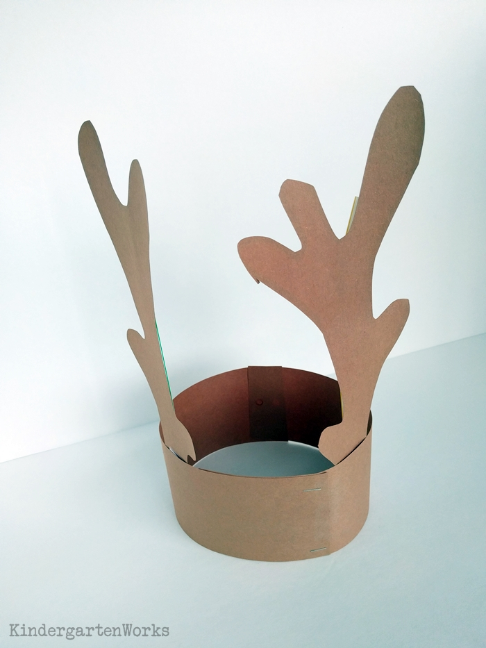 Free Reindeer Antlers Template for Christmas - Kindergarten Headband