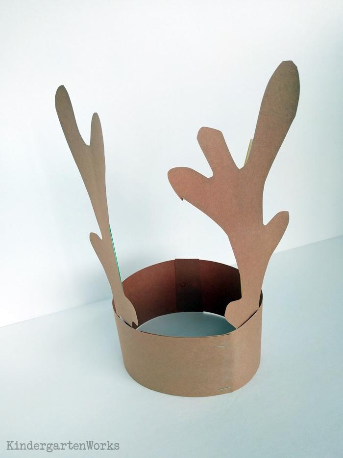 Free Reindeer Antlers Template for Christmas - Kindergarten Headband