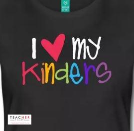 I love my kindergarten students teacher shirt