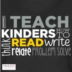I love this kindergarten teacher t-shirt