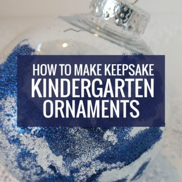 Keepsake Ornaments for Kindergarten