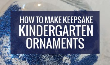 How to Make Keepsake Kindergarten Ornaments
