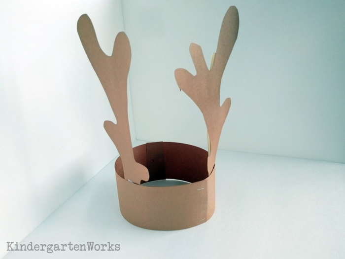 Kindergarten Craft - Free Reindeer Headband Antlers Template for Christmas