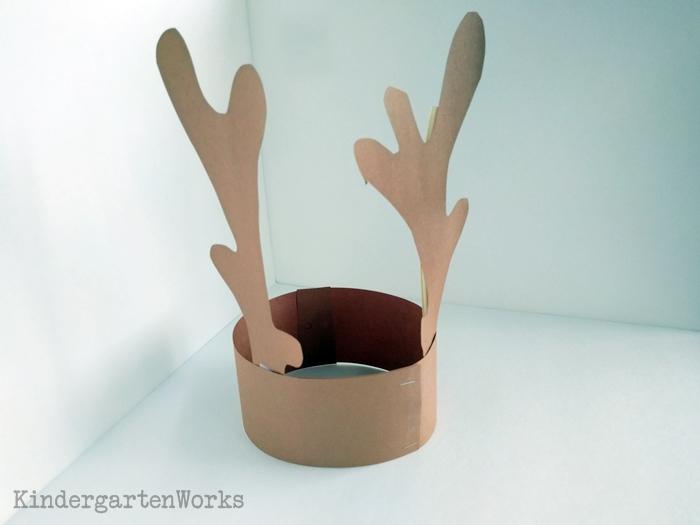 Kindergarten Craft - Free Reindeer Headband Antlers Template for Christmas
