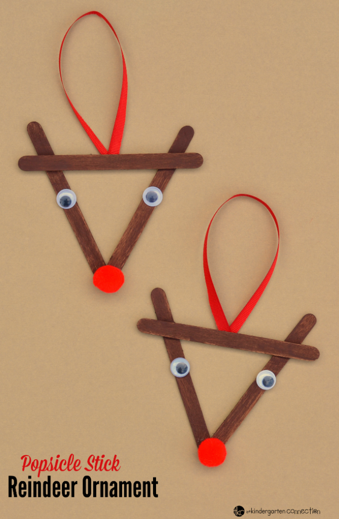 Reindeer Ornament from Popsicle sticks