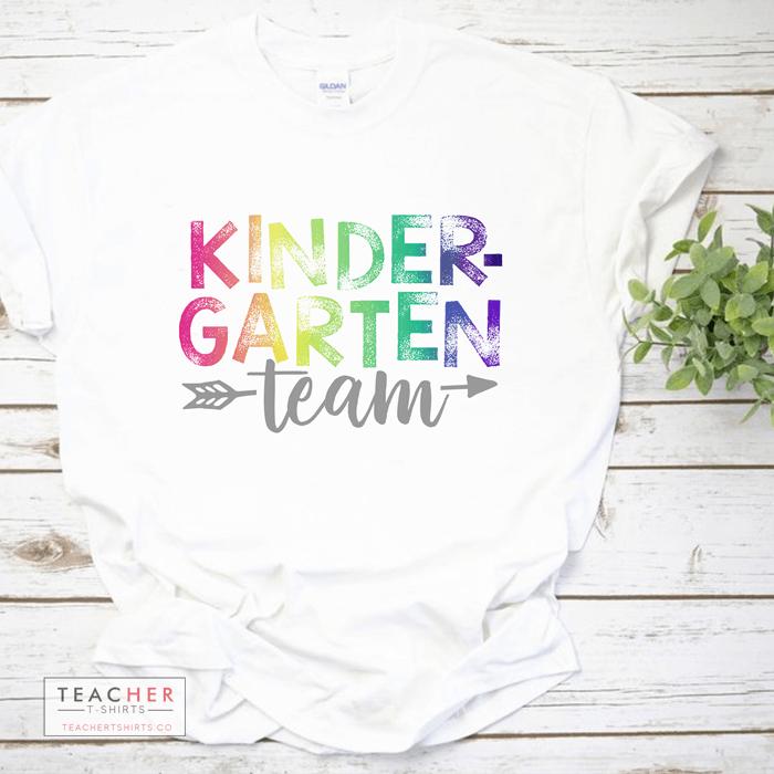 kindergarten grade level team teacher t-shirts