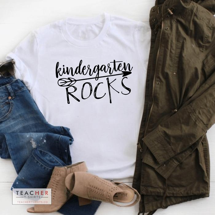 kindergarten rocks cute teacher t-shirts
