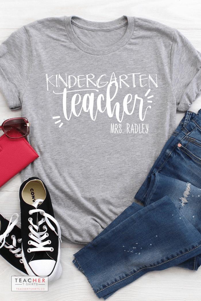 personalized teacher t-shirts for kindergarten online