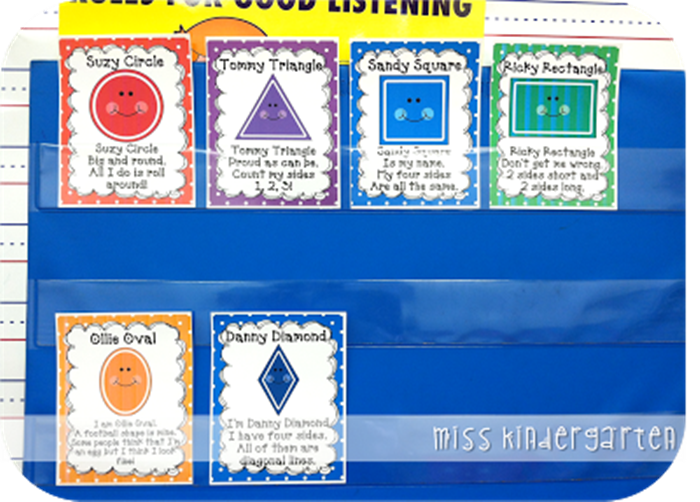 Activities for teaching 2D shapes - free shape poem posters