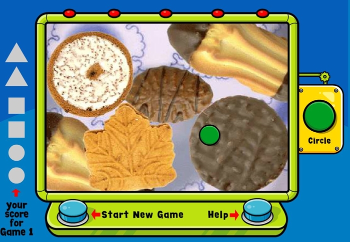 Activities for teaching 2D shapes - interactive finding shapes game online
