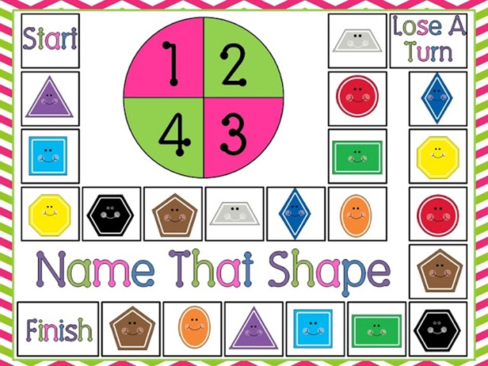 Activities for teaching 2D shapes - name that shape free game