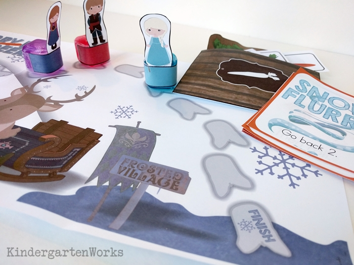 Frozen Kindergarten Composing Teen Numbers Game board